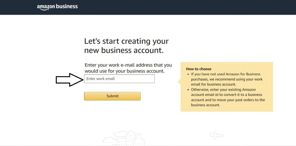 Business Account Registration Step 2